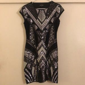 Black & silver sequins dress from Express. Size M.